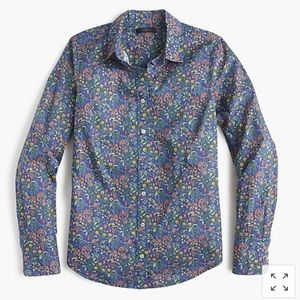 J crew perfect shirt liberty catesby floral size 2